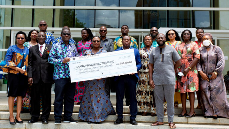 Ghana Missions abroad donate US$59,000 to Ghana Covid-19 Private Sector Fund